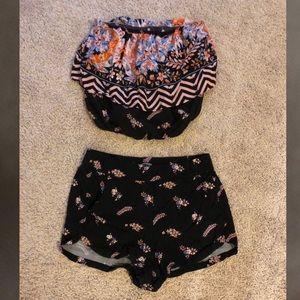 Matching Crop Top + Shorts